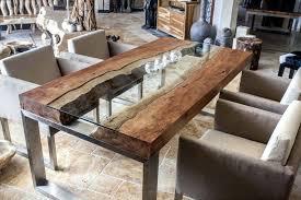 Häusliche Verbesserung Esstisch Holz Edelstahl Esstische Massiv