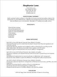 Internal Auditor Resume Free Resume Templates 2018