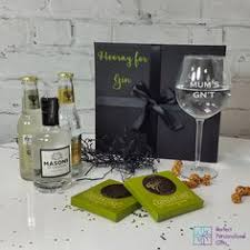 ay for gin gift set do you know a gin lover this is a perfect gift set to please any gin enthusiast the black gift box is personalised with ay