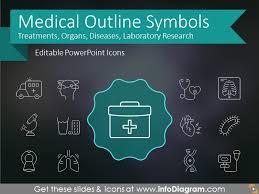Medical Presentations Modern Medical Signs Health Outline Symbols For Ppt Presentations