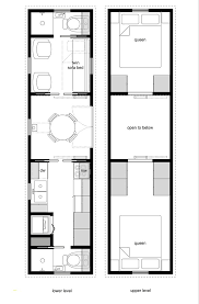 house plan design 15 x 45 lovely tiny house floor plans with lower level beds tiny house design