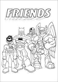 Coloring Page Superfriends Superfriends On Kids N Funcouk Op Kids