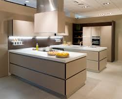 cabinet lighting modern kitchen. light beige tones cover the minimalist surfaces in this kitchen with matching tile floor and cabinet lighting modern l