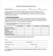 eagle scout letter of recommendation form sample eagle scout letter of recommendation 9 download documents