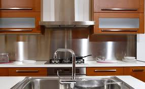 Backsplash Ideas, Stainless Steel Backsplash Sheets Stainless Steel Kitchen  Wall Panels Cool Amazing Elegant Simple ...