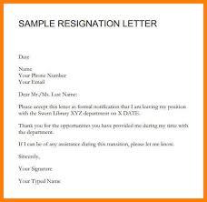 Management Resignation Letter Formal Resignation Letter Resignation Letter Formal Resignation