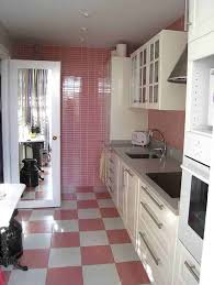 Pink Kitchen Pink Checkerboard Floor And White Cabinets Checkerboard Floors