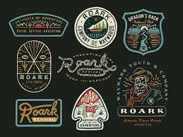 Roark Revival Roark Revival Vintage Logo Design Badge Design