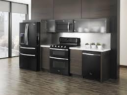 Fascinating Modern Kitchen With Black Appliances Amazing ...