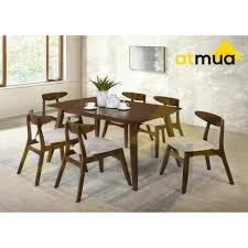 Scandinavian modern furniture Table Atmua Furnishing Aliexpress promotion Atmua Tomos Dining Set 1 Table Chairs