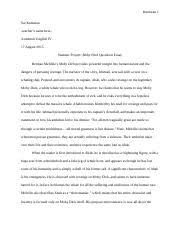 annotated bibiliography essay assignment american literature 2 pages summer essay moby dick