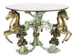 table horse. 3 horses bronze coffee table horse e