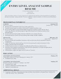 Entry Level Banking Resumes Entry Level Financial Analyst Resume Sample Best Entry Level