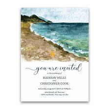 Beach Invitation Beach Wedding Invitation Sea Inspired Watercolors