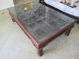 Indian Coffee Table Coffee Table Made From And Old Indian Door Movingsale90272