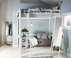 Small Bedroom Bed Bedroom Small Bedroom Decorating Tips Using Red Wooden Loft Bed