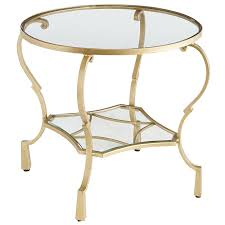 chasca glass top gold round end table pier 1 imports