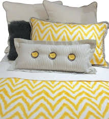 solid yellow duvet cover king queen gray yellow and white chevron bedding and pillow set eclectic