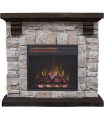 redstone wall fireplace mantel with 18 in infrared quartz electric fireplace brushed dark pine