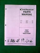 gilson outdoor power equipment manuals & guides ebay Lawn Boy Re12e Engine Start Wiring Diagram gilson tractor lt11s lt8s lt12s parts manual 1987
