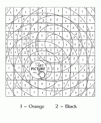 Color By Number Pattern Coloring Page