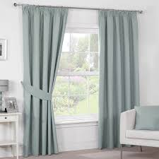 Curtains Luna Duck Egg Luxury Blackout Pencil Pleat Curtains Pair Most