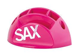 desk organiser sax design with separators pink