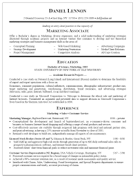 Marketing Resume Examples Entry Level Entry Level Marketing Resume Example EssayMafia 7