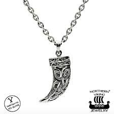 northern viking jewelry 925 silver fenrir wolf tooth pendant
