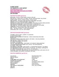 Makeup Artist Resume Examples Enchanting Example Of Makeup Artist Resume Artist Resume Examples Trendy Resume