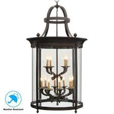ham collection 12 light french bronze outdoor hanging mount country influence foyer lantern