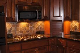 Kitchen With Stone Backsplash Kitchen Stone Backsplash Ideas With Dark Cabinets Subway Tile