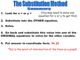 3 the substitution method