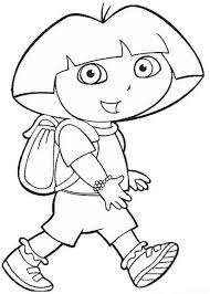 Small Picture Dora the Explorer Coloring Pages 10 Coloring Kids