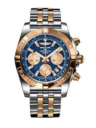Chronomat 44 Stainless Steel & <b>18k Rose Gold</b> - Blue ...