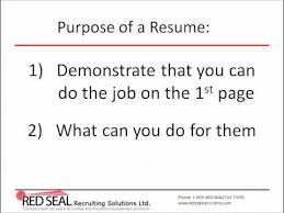 How To Write A Canadian Resume Part 40 Purpose Of A Resume YouTube Adorable Purpose Of A Resume
