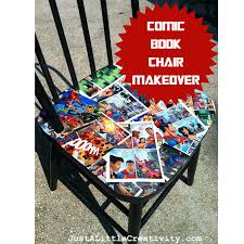 comic book furniture. I Love The Furniture, My Sons Comics. Created This Comic Book Chair With Extras Son Had, A Free Chair, Spray Paint, And Mod Podge. Furniture