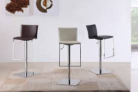Contemporary Bar Stools Contemporary Swivel Bar Stool Seat With Armless And Chrome Leg