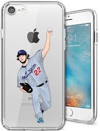 iphone 6 6s plus case clear tpu diy custom baseball player design phone case