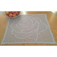 Square Rose Filet Doily Crochet pattern by Kathleen Fields