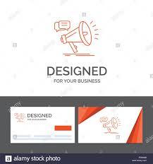Business Logo Template For Marketing Megaphone Announcement Promo