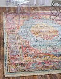 traditional 8 feet by 10 feet 8 x 10 havana light blue momeni rugs