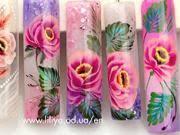 Gelové Nehty Růžové Květy
