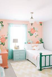 teenage girl room colors kids shabby chic style with fl accent wall transitional outdoor rugs