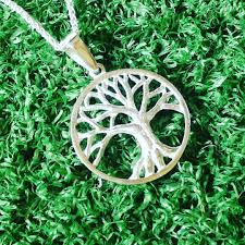 sterling silver tree of life pendant made by goldfish jewellery design studio