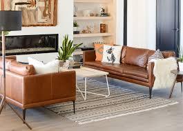 lounge setup with triplo taos brown sofa and nimbus white coffee table