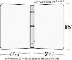 Three Ring Binder Size Chart Dimensions Of A Binder Kozen Jasonkellyphoto Co