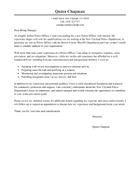 Police Officer Resume Cover Letter Cover Letter For Police Officer Position With Experience 6