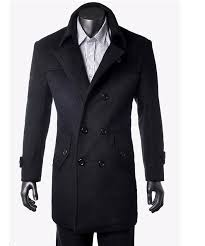 fashion men s wool cashmere blends trench coat winter outerwear clothes outdoor long overcoat outdoor jakcet