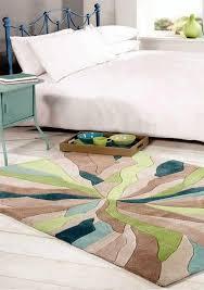 infinite splinter teal green rug